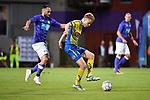 2018-08-10 / Voetbal / Seizoen 2018-2019 / KFCO Beerschot-Wilrijk - KVC Westerlo / Alex Maes (l. B-W) met Guillaume De Schryver<br /> <br /> ,Foto: Mpics