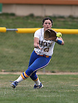 Wildcats' right fielder Kacie Freudenberger makes a play against Snow College at Edmonds Sports Complex in Carson City, Nev., on Friday, March 20, 2015. <br /> Photo by Cathleen Allison/Nevada Photo Source