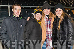 Mark, Noreen and Christine Cooper with Zoe O'Sullivan, Crokes fans, pictured at the AIB Munster Club SFC final held in Mallow on Sunday last.