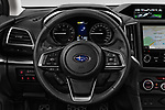 Car pictures of steering wheel view of a 2018 Subaru Impreza Premium 5 Door Hatchback Steering Wheel