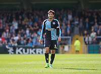 Joe Jacobson of Wycombe Wanderers during the Sky Bet League 2 match between Wycombe Wanderers and Hartlepool United at Adams Park, High Wycombe, England on 5 September 2015. Photo by Andy Rowland.