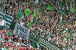 12.05.2018, OPEL Arena, Mainz, GER, 1.FBL, 1. FSV Mainz 05 vs SV Werder Bremen<br /> <br /> im Bild<br /> Fans feiern ihre Mannschaft, klatschen Applaus, Banner / Spruchband &quot;Danke Zladdi&quot;, <br /> <br /> Foto &copy; nordphoto / Ewert