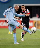 Aurelien Collin, Hamdi Salihi.  Sporting KC defeated D.C. United, 1-0, at RFK Stadium in Washington, DC.
