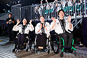 (L-R) Aki Taguchi, Megumi Mashiko, Shinji Negi, <br /> JULY 24, 2017 : <br /> The countdown event Tokyo 2020 Flag Tour Festival and 3 Years to Go to the Tokyo 2020 Games, <br /> at Tokyo Metropolitan Buildings in Tokyo, Japan. <br /> (Photo by Yohei Osada/AFLO SPORT)