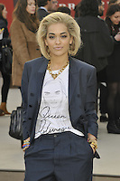 18th February, 2013. The Burberry Prorsum A/W 2013 show held at Kensington Gardens, during the London Fashion Week..Here, Rita Ora...PAP0213KG416.PAP0213KG416. ©/NortePhoto.