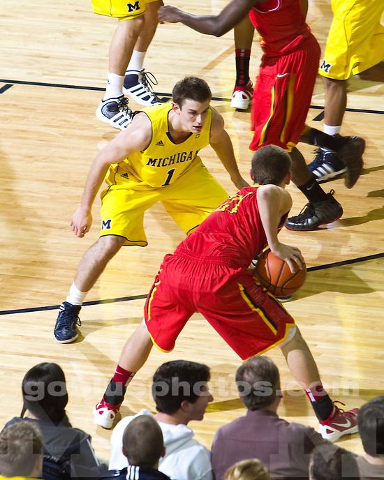 The University of Michigan men's basketball team beat Ferris State University, 59-33, at Crisler Arena in Ann Arbor Mich., on November, 11 2011.