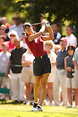August 22, 2004; Dublin, OH, USA;  14 year old amateur Michelle Wie tees off during the final round of the Wendy's Championship for Children golf tournament held at Tartan Fields Golf Club.  <br />Mandatory Credit: Photo by Darrell Miho <br />&copy; Copyright Darrell Miho