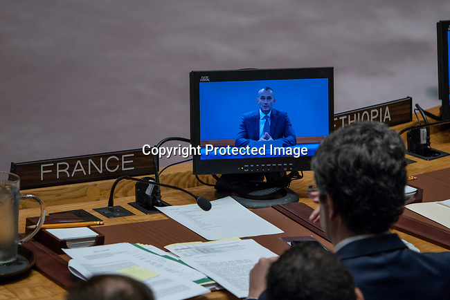 Security Council meeting<br /> <br /> The situation in the Middle East, including the Palestinian question