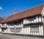 Historic half timbered village  houses at Mendlesham, Suffolk, England