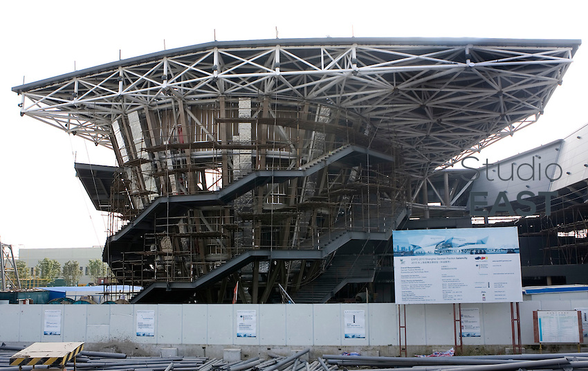 The German pavilion undergoes construction on Shanghai Expo 2010 site, in Shanghai, China, on October 31, 2009. Photo by Lucas Schifres/Pictobank