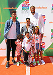 LOS ANGELES, CA- JULY 17: NBA player Tyson Chandler (R), Kimberly Chandler (C) and family attend Nickelodeon Kids' Choice Sports Awards 2014 at Pauley Pavilion on July 17, 2014 in Los Angeles, California.