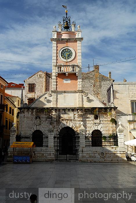 Gradska Straza (or Loggia della Gran Guardia), on Narodni Trg (or Piazza dei Signori). Zadar, Croatia