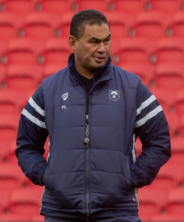 Bristol Bears' Head Coach Pat Lam<br /> <br /> Photographer Bob Bradford/CameraSport<br /> <br /> Premiership Rugby Cup Round 4 - Bristol Bears v Exeter Chiefs - Saturday 26th January 2019 - Ashton Gate - Bristol<br /> <br /> World Copyright © 2018 CameraSport. All rights reserved. 43 Linden Ave. Countesthorpe. Leicester. England. LE8 5PG - Tel: +44 (0) 116 277 4147 - admin@camerasport.com - www.camerasport.com