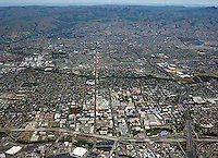 high overview aerial photograph San Jose, Santa Clara county, California