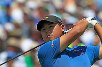 Si Woo Kim (KOR) tees off the 1st tee to start his match during Thursday's Round 1 of the 117th U.S. Open Championship 2017 held at Erin Hills, Erin, Wisconsin, USA. 15th June 2017.<br /> Picture: Eoin Clarke | Golffile<br /> <br /> <br /> All photos usage must carry mandatory copyright credit (&copy; Golffile | Eoin Clarke)