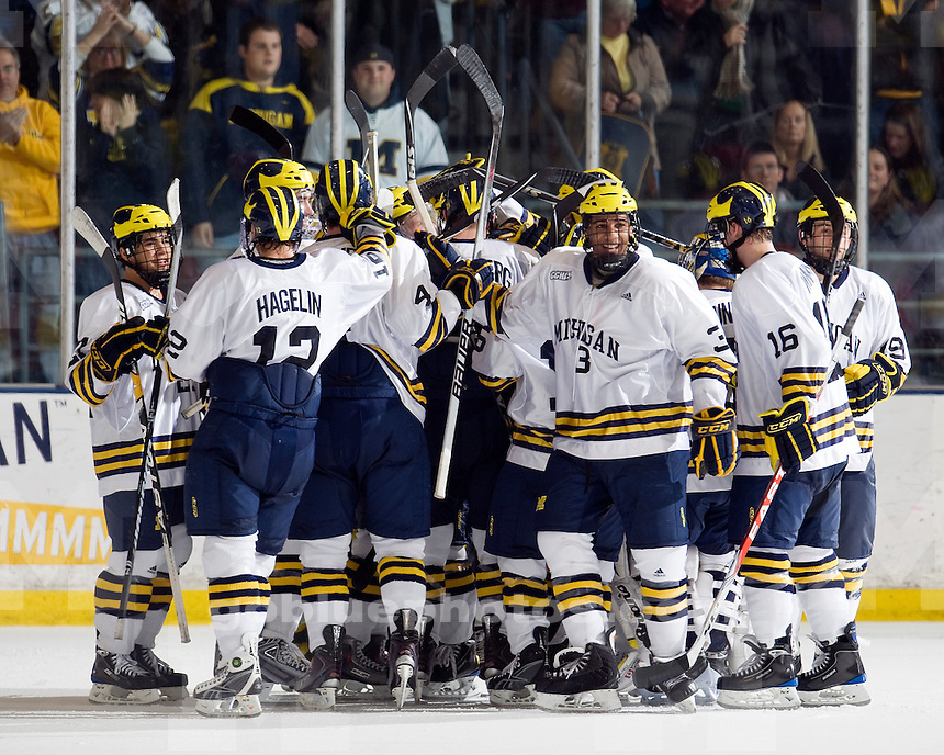 University of Michigan Ice Hockey v Wisconsin on 11/28/2009 in Ann Arbor, MI