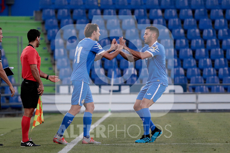 Getafe CF's Ignasi Miquel during Preseason match between Getafe CF and Crotone FC at Colisseum Alfonso Perez in Getafe, Spain. August 02, 2019. (ALTERPHOTOS/A. Perez Meca)