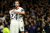 726th November 2019; Tottenham Hotspur Stadium, London, England; UEFA Champions League Football, Tottenham Hotspur versus Olympiacos; Harry Kane of Tottenham Hotspur celebrates his goal with Serge Aurier for 4-2 in the 77th minute - Editorial Use