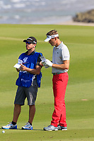 Raphael Jacquelin (FRA) during the first round of the NBO Open played at Al Mouj Golf, Muscat, Sultanate of Oman. <br /> 15/02/2018.<br /> Picture: Golffile | Phil Inglis<br /> <br /> <br /> All photo usage must carry mandatory copyright credit (&copy; Golffile | Phil Inglis)