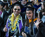 A photograph from the University of Nevada College of Engineering, College of Science and Orvis School of Nursing graduation ceremony on Thursday evening, May 18, 2017.