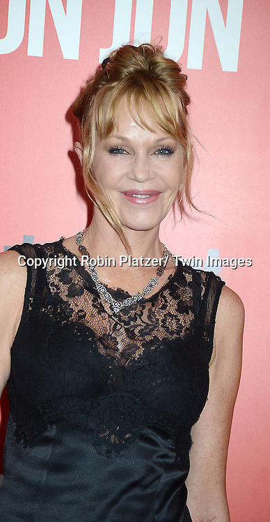 "Melanie Griffith attends the ""Don Jon"" New York Movie Premiere on September 12, 2013 at the SVA Theatre in New York City."