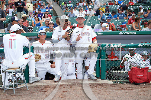 during the Under Armour All-American Game presented by Baseball Factory on July 23, 2016 at Wrigley Field in Chicago, Illinois.  (Mike Janes/Four Seam Images)
