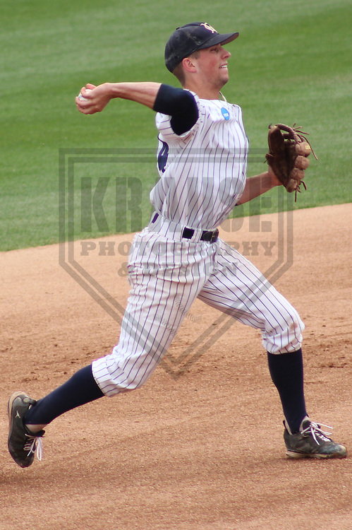 APPLETON - MAY 2011: Tim Saunders (14) of the Marietta Pioneers during a NCAA Division III Baseball Championship game on May 31, 2011 at Fox Cities Stadium in Appleton, Wisconsin. (Photo by Brad Krause) ....