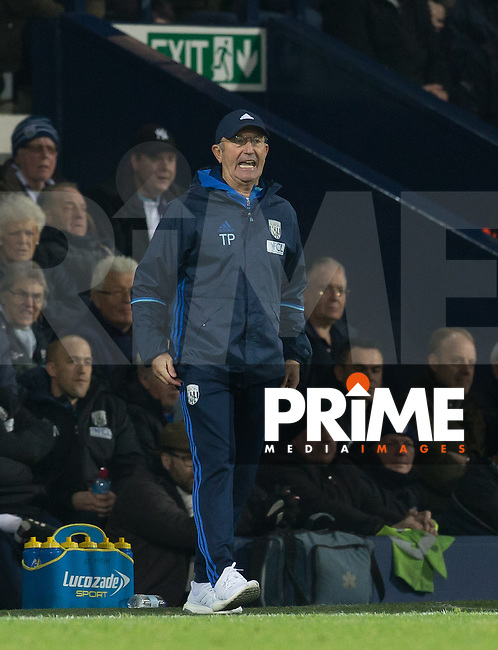 West Bromwich Albion Manager Tony Pulis during the EPL - Premier League match between West Bromwich Albion and Manchester United at The Hawthorns, West Bromwich, England on 17 December 2016. Photo by Andy Rowland / PRiME Media Images.