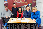At the signing of the Memorandum of Agreement between KCFE and Bons Secours Hospital at the KCFE on Thursday.<br /> Front l-r, Cllr Terry O'Brien, Hillary Fitzgerald, Mary Lucey (Principal of KCFE),  TJ O'Connor (Manager of Bons Secours Hospital, Tralee) and Carmel Kelly (Deputy Principal)