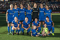 Seattle, WA - Saturday July 22, 2017: Seattle Reign FC Starting XI during a regular season National Women's Soccer League (NWSL) match between the Seattle Reign FC and Sky Blue FC at Memorial Stadium.