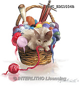 Marcello, REALISTIC ANIMALS, REALISTISCHE TIERE, ANIMALES REALISTICOS, paintings+++++,ITMCEDC1034B,#A# ,cats ,kittens