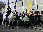 West Ham fans arrive at White Hart Lane<br /> <br /> Barclays Premier League - Tottenham Hotspur  vs West Ham  - White Hart Lane - England - 22nd February 2015 - Picture David Klein/Sportimage
