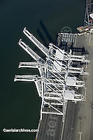 aerial photograph cranes Port of Oakland, California