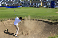 Pedro Figueiredo (POR) plays his 3rd shot from a fairway bunker on the 2nd hole during Thursday's Round 1 of the Dubai Duty Free Irish Open 2019, held at Lahinch Golf Club, Lahinch, Ireland. 4th July 2019.<br /> Picture: Eoin Clarke | Golffile<br /> <br /> <br /> All photos usage must carry mandatory copyright credit (© Golffile | Eoin Clarke)