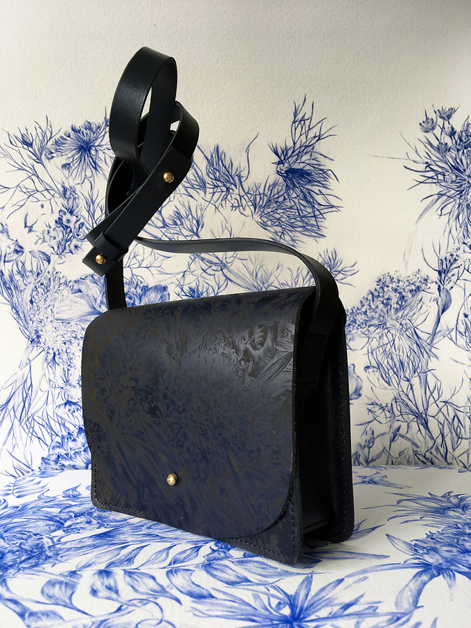 Amy Collins Ltd<br /> Founder: Amy Collins (Textiles 2017)<br /> A highly skilled artist, Amy Collins reinvents 18th century botanical drawings as contemporary luxury goods such as wallets, bags and printed scarves. Her unique asethetic showcases Amy&rsquo;s exceptional attention to detail and one-of-a-kind talent. By applying her exceptional drawings to leather using laser etching, Amy has married the two worlds of art and fashion, producing pieces that capture the romanticism of travel and escapism.