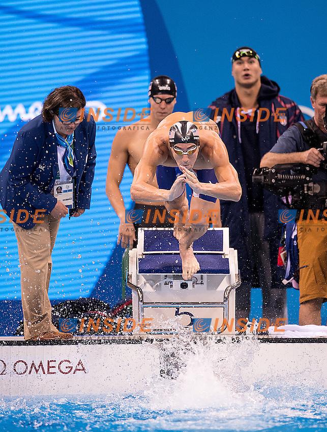 Team USA Phelps Michael <br /> 4x100 freestyle men<br /> Rio de JaneiroXXXI Olympic Games <br /> Olympic Aquatics Stadium <br /> Swimming finals 07/08/2016<br /> Photo Giorgio Scala/Deepbluemedia/Insidefoto