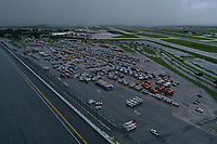 Daytona Speedway Processing site preparing for 2019 Hurricane Dorian in Daytona, Fla. on September 1, 2019.