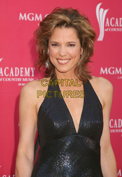 HANNAH STORM.42nd Annual Academy Of Country Music Awards held at the MGM Grand Garden Arena, Las Vegas, Nevada, USA..May 15th, 2007.half length black halterneck shiny .CAP/ADM/BP.©Byron Purvis/AdMedia/Capital Pictures