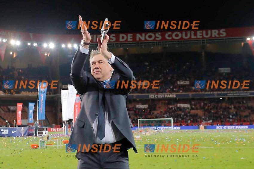 Carlo Ancelotti (PSG) .Festeggiamenti PSG Campione .Football Calcio 2012/2013.Ligue 1 Francia.Foto Panoramic / Insidefoto .ITALY ONLY