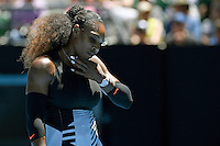 QF / Serena Williams (USA) beats Johanna Konta (GBR) today in straight sets.<br /> 2017 Australian Open Tennis<br /> Grand Slam of Asia Pacific<br /> Melbourne Park, Rod Laver Arena<br /> Victoria Australia Weds 25th Jan 2017<br /> &copy; Sport the library / Jeff Crow