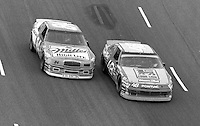 Greg Sacks (48) Dick Trickle (84) Heinz Southern 500 at Darlington Raceway in Darlington, SC on September 3, 1989. (Photo by Brian Cleary/www.bcpix.com)