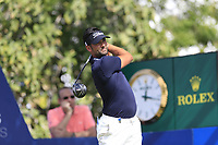 Lee Slattery (ENG) on the 14th tee during the 2nd round of the DP World Tour Championship, Jumeirah Golf Estates, Dubai, United Arab Emirates. 16/11/2018<br /> Picture: Golffile | Fran Caffrey<br /> <br /> <br /> All photo usage must carry mandatory copyright credit (© Golffile | Fran Caffrey)