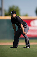 Field umpire Zach Neff during a California League game between the Lancaster JetHawks and San Jose Giants at San Jose Municipal Stadium on May 13, 2018 in San Jose, California. San Jose defeated Lancaster 3-0. (Zachary Lucy/Four Seam Images)