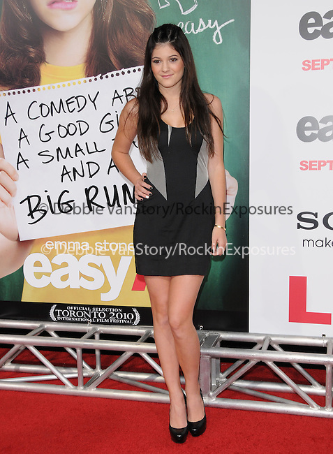 """Kylie Jenner at the Screen Gems' L.A. Premiere of """"Easy A"""" held at The Grauman's Chinese Theatre in Hollywood, California on September 13,2010                                                                               © 2010 Hollywood Press Agency"""