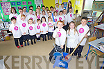 Nathan McAuliffe, Aoibhe Reilly and Adam Walsh with school pals from Ballincrosig national school taking part in a school clean-up part of the National Day of Volunteering on Friday.
