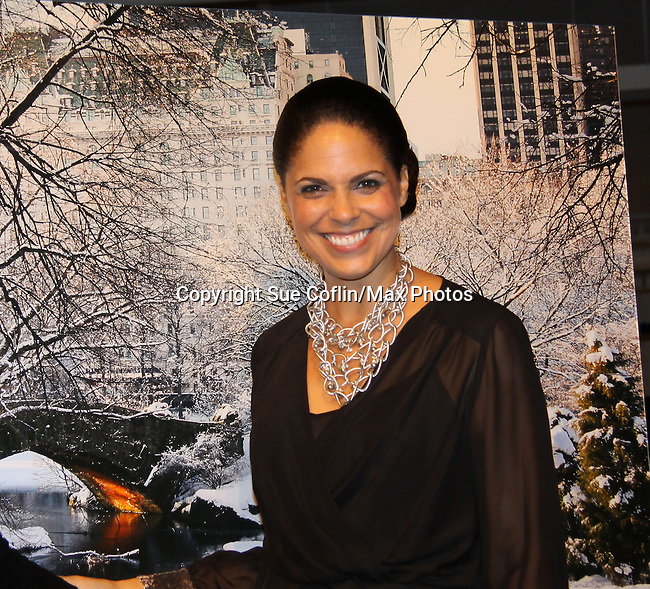 """Soledad O'Brien at 17th Annual Hearts of Gold Gala """"Fiesta Latina"""" Fashion Night to raise funds for New York's City's Homeless Mothers and their children on November 1, 2013 at the Metropolitan Pavilion, New York City, New York.  (Photo by Sue Coflin/Max Photos)"""