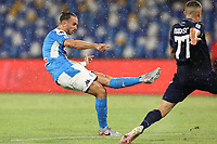 Fabian Ruiz of SSC Napoli scores a goal<br /> during the Serie A football match between SSC  Napoli and SS Lazio at stadio San Paolo in Naples ( Italy ), August 01st, 2020. Play resumes behind closed doors following the outbreak of the coronavirus disease. <br /> Photo Cesare Purini / Insidefoto