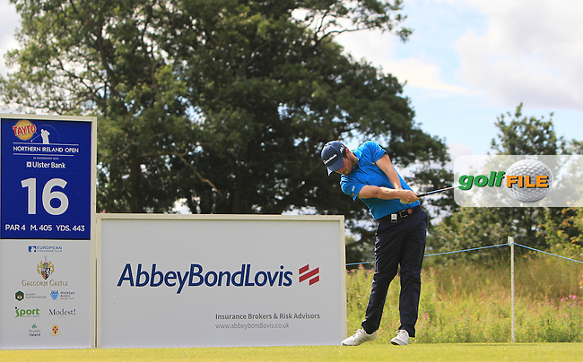 Cormac Sharvin (NIR) on the 16th tee during Round 4 of the Tayto Northern Ireland Open in partnership with Ulster Bank at Galgorm Castle Golf Club, Ballymena Co. Antrim on Sunday 31st July 2016.<br /> Picture:  Golffile | Thos Caffrey<br /> <br /> All photos usage must carry mandatory copyright credit   (&copy; Golffile | Thos Caffrey)
