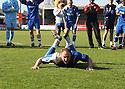 Charlie Griffin of Stevenage Borough celebrates promotion after the Blue Square Premier match between Kidderminster Harriers and Stevenage Borough at the Aggborough Stadium, Kidderminster on Saturday 17th April, 2010..© Kevin Coleman 2010