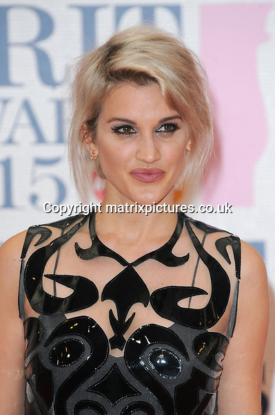 NON EXCLUSIVE PICTURE: PAUL TREADWAY / MATRIXPICTURES.CO.UK<br /> PLEASE CREDIT ALL USES<br /> <br /> WORLD RIGHTS<br /> <br /> American singer and media personality, Ashley Roberts attending the BRIT Awards 2015 at the O2 Arena, in London.<br /> <br /> FEBRUARY 25th 2015<br /> <br /> REF: PTY 15627